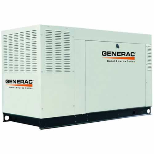 Generac QT04854GNAX QuietSource Liquid-Cooled 5.4L 48kW 120/208V 3-Phase Natural Gas Aluminum Generator
