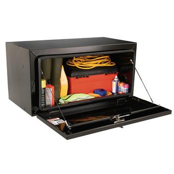 JOBOX 734980 30 in. Long Heavy-Gauge Steel Underbed Truck Box (Black)
