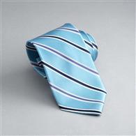 Striped Silk Tie, Turquoise, medium