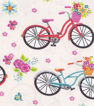 Snuggle Flannel Fabric-Cruiser Bicylces