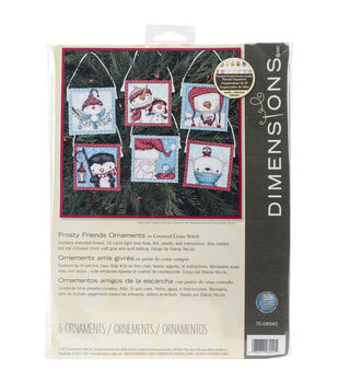 Dimensions Frosty Friends Ornaments Counted Cross Stitch Kit