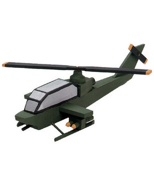 Darice Wood Model Kit-Attack Helicopter