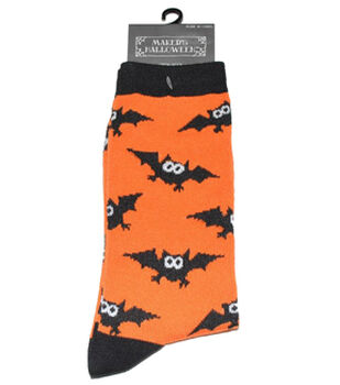 Maker's Halloween Socks-Allover Bat Crew