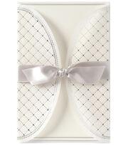 Anna Griffin Silver Foil Harlequin Vellum Gatefold Custom Invitation, , hi-res