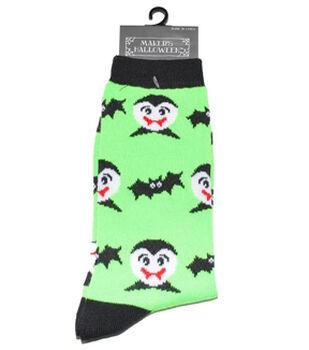 Maker's Halloween Socks-Vampire Bat Crew