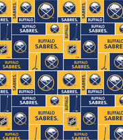 Buffalo Sabres NHL Block Cotton Fabric, , hi-res