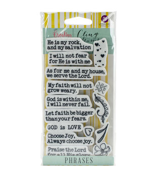 Prima Marketing Creating In Faith Cling Stamps-Phrases
