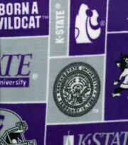 Kansas State University University NCAA  Fleece Fabric, , hi-res