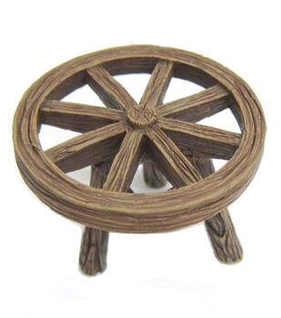 Fairy Garden Resin Table-Wheel