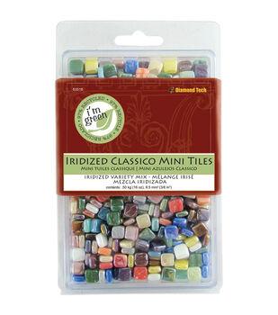"Classico Mini Iridized Tile Mix 5/16"" 16oz/Pkg-Assorted Colors"