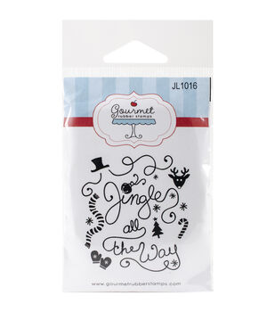 Gourmet Rubber Stamps Cling Stamps-Jingle All The Way