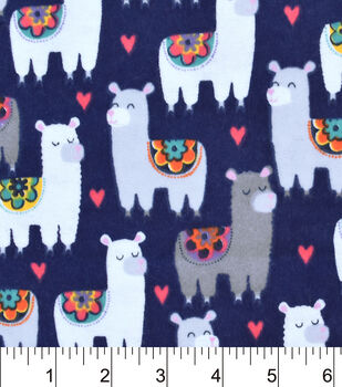 Snuggle Flannel Fabric-Patterned Llamas