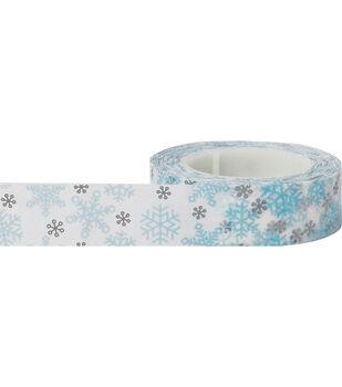 Little B Decorative paper Tape 15mmx15m-Winter Snowflakes