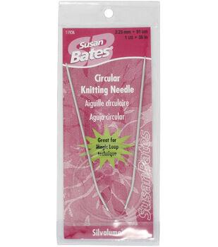 Susan Bates-Silvalume Circular Knitting Needles 36-Size 1