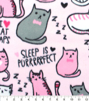 Blizzard Fleece Fabric-Cat Naps