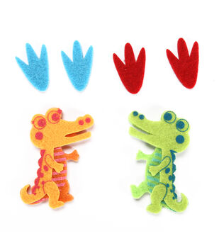 Felt Stickers - Crocodiles