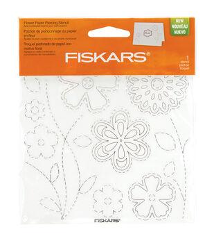"Fiskars Paper Piercing Stencil 6"" x 6"" - Flower"