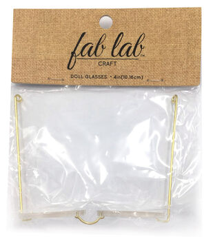 """Darice Doll Glasses 4"""" 1/Pkg-Acrylic Oval Lens-Extra Large"""