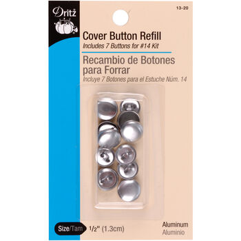 "Dritz 0.5"" Cover Button Refills 7pcs Size 20"