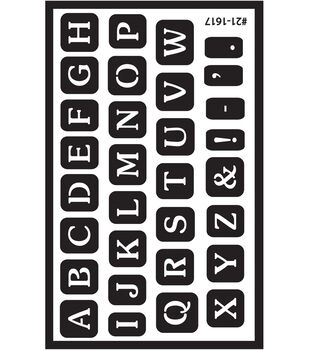 Over 'n' Over Reusable Glass Etching Stencils-Full Alphabet