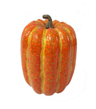 Blooming Autumn Small Crackle Pumpkin-Orange