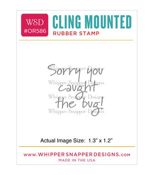 Whipper Snapper Designs Cling Stamp-Caught The Bug