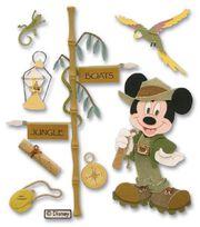 Disney Dimensional Vacation Stickers-Jungle Mickey, , hi-res