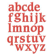 Spellbinders Shapeabilities Font Dies Font 1, Lowercase, , hi-res