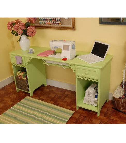 Homespun Olivia Sewing Cabinet-Pistachio
