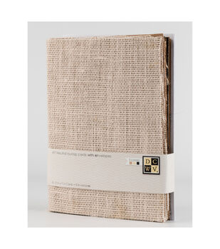DCWV A7 8 pack card and envelope set: Neutral burlap