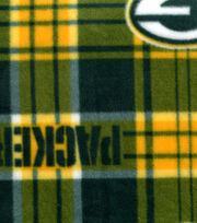 Green Bay Packers NFL Plaid Fleece Fabric by Fabric Traditions, , hi-res