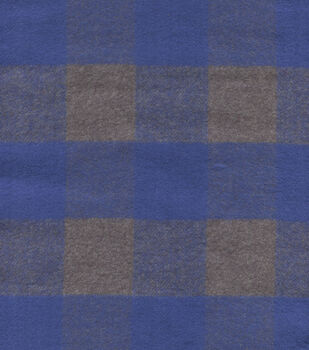 Plaid Brush Cotton-Check Navy Gray