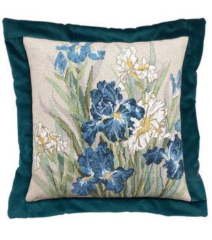 "14""x14"" Needlepoint Kit-Oriental Iris"