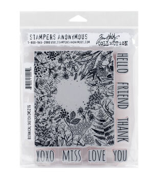 Stampers Anonymous Botanical Sketch Cling Rubber Stamp Set