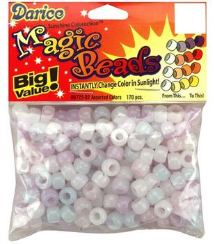 Value Pack Magic Color-Changing Pony Beads 6x9mm