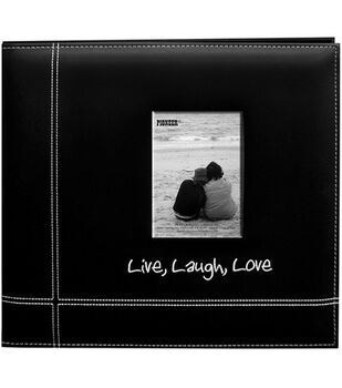 Pioneer Leatherette Postbound Album Love/Laugh/Love Black