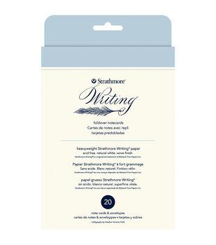 "Strathmore® 20pcs 4.75""x6.5"" Foldover Notecards-Natural White"