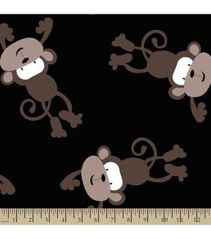 Blizzard Fleece Fabric-Monkey Madness