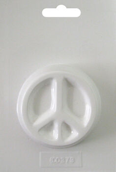 Yaley Soapsations Soap Mold Round Peace Sign