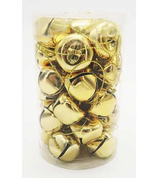 Maker's Holiday 30 Piece Gold 30mm Jingle Bells