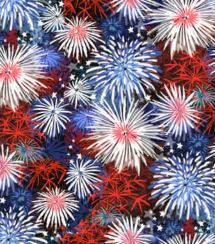 Holiday Inspirations Patriotic Fabric- Fireworks