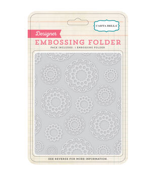 Carta Bella Doilies Embossing Folder 5''x5.875''