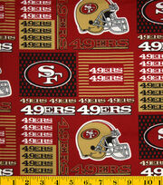 San Francisco 49ers NFL Patch Cotton Fabric by Fabric Traditions, , hi-res