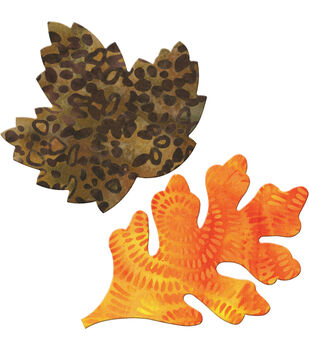 GO! Fabric Cutting Dies-Rustling Leaves #2 Maple & Oak Large