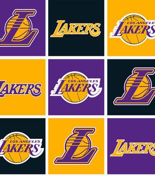 Los Angeles Lakers NBA  Fleece Fabric