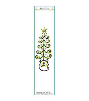 Class Act Tree In Bag Cling Mounted Rubber Stamp