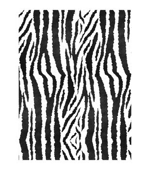 "Fanci Felt 9""X12""- Zebra - Black Flock W/White Felt 24/pack"