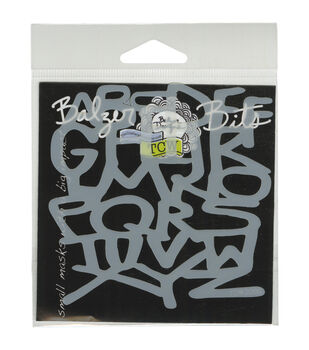 Crafter's Workshop 4''x4'' Balzer Bits Mask-Grafitti