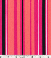 Keepsake Calico Fabric - Coral Black Stripe, , hi-res