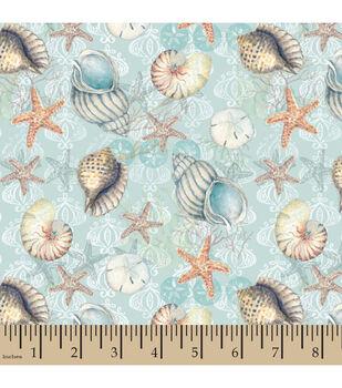 Susan Winget Cotton Fabric-Boho Coastal Shells